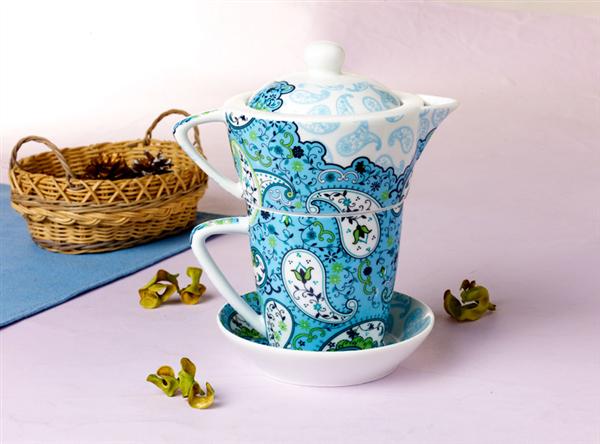 Logo Tasse Cafe Bleu Et Soucoupe