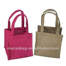 mini jute bag with self material handles