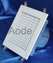 Aluminium square Eggcrate air diffuser With Neck Adapter with butterfly damper for HVAC / ventilation made by China manufacturer