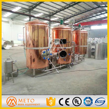 500L Beer Brewing Machinery, Red Copper 500L Brewing Equipment For Sale