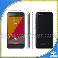 High gsm+gprs android smart phone 5 inch touch screen unlock
