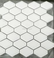 most popular white diamond shape mosaic tile