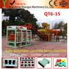 QT6-15 block making machine,automatic cement block machine price ,paving block machine manufacturer with CE