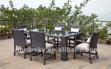Garden patio rattan furniture dining set