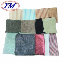 New metallic lurex polyester nylon recycled of plain dobby jacquard woven knitting for garment industrial home textile fabric
