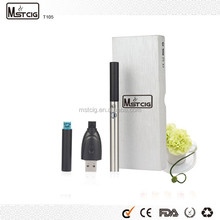 OEM/ODM MSTCIG Cheap T105 Pen Style Electronic Cigarette Empty China 230mah, Oil Refillable Vaporizer Pen China Wholesale 129mm