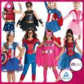 2015 meninas Superman traje traje Superman traje para crianças fantasia vestido para crianças