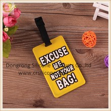 2D/3D Soft PVC /silicone luggage tag rubber loop for promotional activity/custom made soft pvc luggage tag for promotional gift