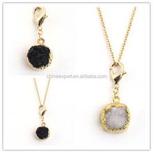 2012 new Unique design black rock stone necklace