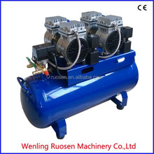 dental oil free and mute air compressor for dental equipment