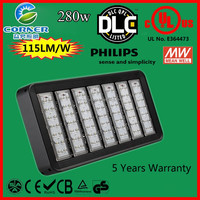 CE/ROHS/UL China SUPPLY 280w IP65 with 5 years warranty led tunnel light