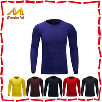 China factory 100% polyester functional mens dry fit long sleeve outdoor sports t shirts/fishing shirts for men