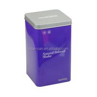nice useful Customized factory price custom rectangular tin can for tea