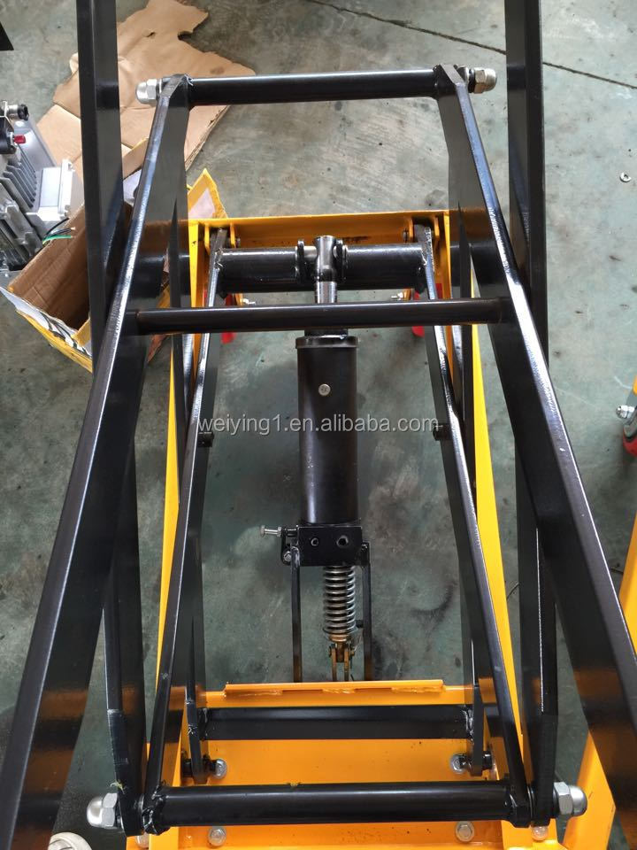 Manual Hydraulic Lift : Manual scissor small hydraulic lift platform