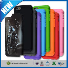C&T 2in1 Hybrid High Impact Hard motorcycle Pattern + Black Silicone Case Cover for Apple iPhone 6