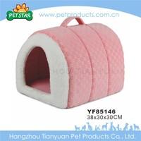 Warm Handmade Soft Fabric Pink Dog Houses