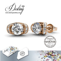 Destiny Jewellery Rose gold White Gold Plating Crystals from Swarovski Eve Earrings