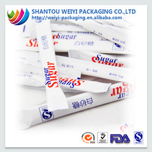 wholesale fda approved small plastic bag printing sugar packets