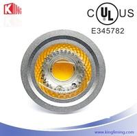 Special offer aluminum shell led spotlight cob epistar IC driver 85-265V 5W led gu10