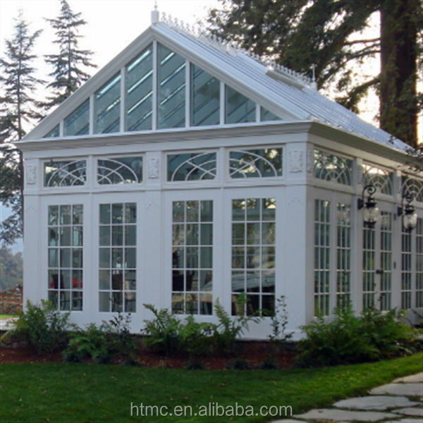 Prefabricated aluminum glass house with various choice and for Prefab glass house prices