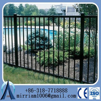 Modern and new style faux painting wrought iron steel fence