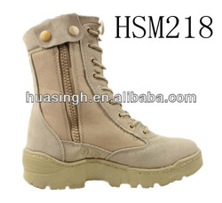 """DH,strong quality side zip design stitched rubber sole 8"""" desert boots"""