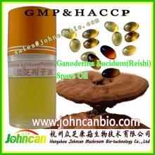Natural organic reishi spore oil softgel/capsule 300mg/500mg