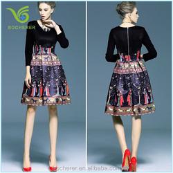 New arrival Slim ladies femal vintage style casual/formal dress