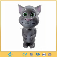 Funny kids gifts oem plastic toy cartoon talking cat tom figure with record
