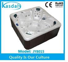 fast shipment 7 seat acrylic shell wpc cabinet massage hot tub