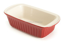 toplink good cooking 9 Inch Ceramic Pie Plate, Red