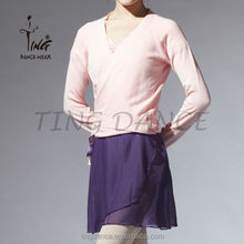 fantastic cross over pink long sleeve sweater