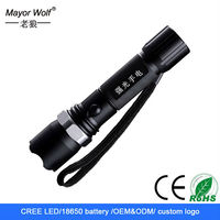 high power cree rechargeable long range economic lamp torch