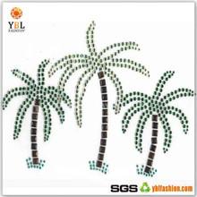 Blue Color Garment Accessory Bling Bling Hot Fix Coconut palm tree Transfer Motifs