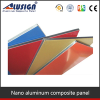 Alusign colour painted aluminium sheet/pre painted thin aluminum composite panel