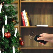 Infrared cordless control battery operated christmas tree light