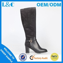 L&C H1581-K478 mid heel fasteners thigh female protective boot
