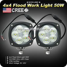 Goldrunhui RH-L0623 Automobile part 50w Led Work Light ,Auto Working Light LED 4inch led work light