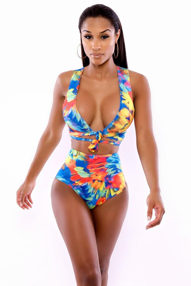 Neon-Tropics-Wrap-Swimsuit-Lingerie-LC4251-1