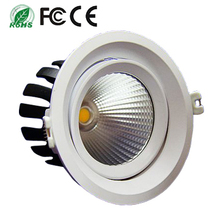 CE&RoHs approved diameter 140mm 15w Adjustable recessed COB led downlight