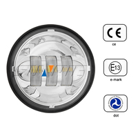 4.5 inch round car led fog light for harley motorcycle led driving light 30w fog lamp for motorcycle