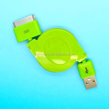 Colorful Electronics Cable Rates for Iphone4 Fashion Retractable Cable Reel
