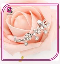 Fashion New Hot Fashion Crystal Stud Ear Cuff Earring Wrap Clip On Earrings For Women