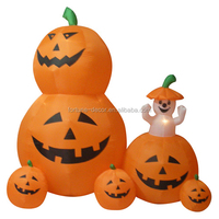 180cm Halloween inflatable animated pumpkins with white ghost