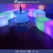 led night club stool/illuminated bar stool