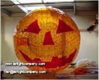 Festival Halloween Pumpkin Orange Zorb Ball For Rental or Amusements