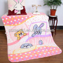 hot sale warm 100% polyeste raschel kids blanket made in Guangzhou