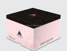 square or round shape birthday cake box /boxes for wholesale /red wedding cake boxes set packing for cakes custom made