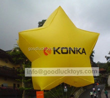 decorative inflatable, holidays light up star decorations,inflatable lighting stars hellium stars