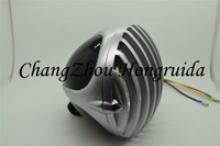 motorcycle HEADLIGHT Head lights with Deep Cut Grille for Harleys chopper